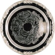 Elegance Romantica 38cm Round Silver Plated Tray