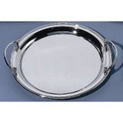 Elegance Silver 82534 Round Nickel Plated Tray w/ Handles