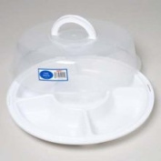 Ddi Five Section Serving Tray with Locking Lid Case Pack 24