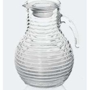 Bormioli Rocco Viva Ribbed 2010ml Pitcher with Ice Tube and White Lid