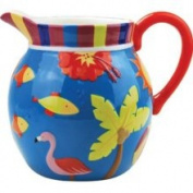 Stealstreet 20.3cm Flamingo and Palm Tropical Motif Dining Ware 3110ml Pitcher