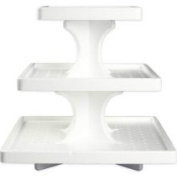 Bakery Crafts 3 Tier Square Cupcake Stand