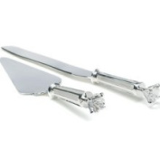 Weddingstar 7009 Silver Plated Cake Serving Set with Diamond