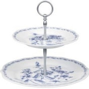 RHS The Garden 2-Tier Porcelain Cake Stand, Gift Boxed