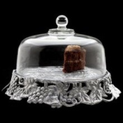Arthur Court Designs Grape Cake Tray with Glass Dome