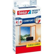 Tesa Mosquito, Fly and Insect Screen for Inward Opening Windows 1.2 M x 2.4 M (max) Anthracite