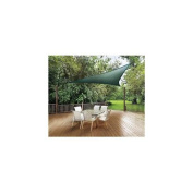 ShelterLogic Canopies 3.7m x 3.7m Evergreen Triangle Heavy Weight Sun Shade Sail (Poles Not Included), Greens 25724