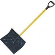 Midwest Rake 49012 45.7cm ABS Poly Snow Shovel, 106.7cm Fibreglass D-Grip