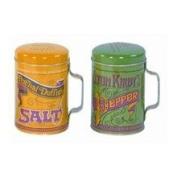 Retro Nostalgic Salt & Pepper Shaker Cans
