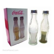 Coca-Cola Coca-Cola Glass Salt and Pepper Shakers