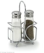 Tablecraft Salt & Pepper Shakers with Rack