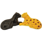 Westland Giftware Mwah! Panther and Leopard 5.1cm Magnetic Salt and Pepper Shakers