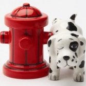 Pacific Trading Where's The Fire Hydrant Dalmation Salt Pepper Shakers