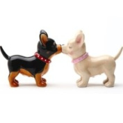 Pacific Trading Pucker Up Pups Collectible Salt Pepper Shaker Set S/P