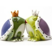 Pacific Trading Kiss A Lot of Frogs Royal Salt Pepper Shakers Set S/p