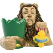 Westland Giftware The Wizard of oz Magnetic Cowardly Lion and Courage Badge Salt and Pepper Shaker Set 8.3cm