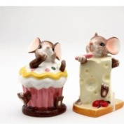 Cosmos Mouse Mice Cheese Salt and Pepper Kitchen Shakers