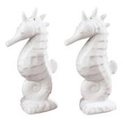 Seahorse White Nautical S/P Salt Pepper Shakers Andrea by Sadek