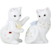 Lenox Butterfly Meadow China - 8.3cm Kitten Salt & Pepper Shaker Set