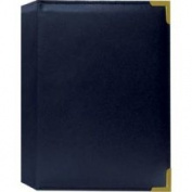 Pioneer Mini Oxford Bound Photo Album, Random Solid Colour Sewn Leatherette Covers with Brass Accent Corners, Holds 24 12.7cm x 17.8cm Photos, 1 Per Page, Colour