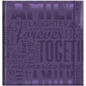 """MBI by MCS Industries """"Family"""" Embossed Gloss Expressions 2-UP 200 Pocket Album, 10cm x 15cm , Deep Purple"""