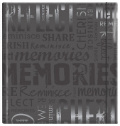 MBI Embossed Gloss Expressions Photo Album 200 Pkt 8 3/4'X9 1/2' Memories Black