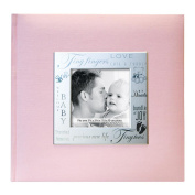 Fabric Expressions Photo Album 22cm x 22cm 200 Pockets-Baby - Pink