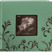 Pioneer Embroidered Scroll Frame Frabic Photo Album, Holds 200 10.2cm x 15.2cm Photos, 2 Per Page, Colour