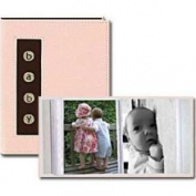 Pioneer Baby Metal Button Brag Photo Album (24 4x6 Photos) - Blue