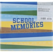 Mbi School Memories 30cm -by-30cm Postbound Album, Blue/Green