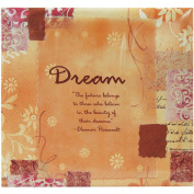 MBI by MCS 866105 Expressions Collection 34cm by 32cm Scrapbook with 30cm by 30cm Top Loading Page, Dream