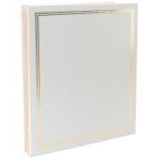 Pioneer Jumbo Family Memory Album, 27.9cm x 35.6cm Scrapbook with 50 Archival Buff Coloured Pages, White Covers
