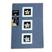 Kleer-Vu Photo / Linen Fabric Album with Window Cover Colour Charcoal Blue Holds 240 4x6 Photos 3 Per Page.