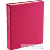 Pink Leather 1-up Clear Pocket 3-Ring Album by Graphic Image