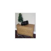 4D Concepts Deluxe Single Shoe Cabinet in Oak - 76157