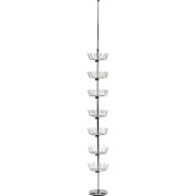 Household Essentials Floor to Ceiling Revolving Shoe Tree, Chrome