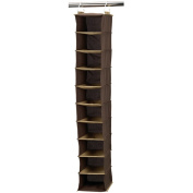 Household Essentials Coffee Linen Collection 10-Pocket Wide Organiser