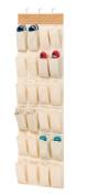 Honey-Can-Do Closet Organisation Over the Door 24-Pocket Shoe Organiser in Bamboo tan SFT-01002
