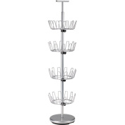 Household Essential 2135 4-Tier Revolving Shoe Tree-Silver