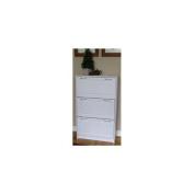 4D Concepts 76453 Deluxe Triple Shoe Cabinet - White