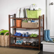 Merry Products SLF0010110000 4 Tier Outdoor Shoe Rack