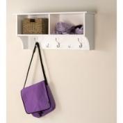 91.4cm White Entryway Cubby Shelf