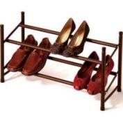 Richard's Homewares Metallic Bronze Expandable and Stackable Shoe Rack