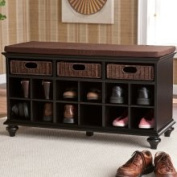sei Kelly Black Entryway Bench
