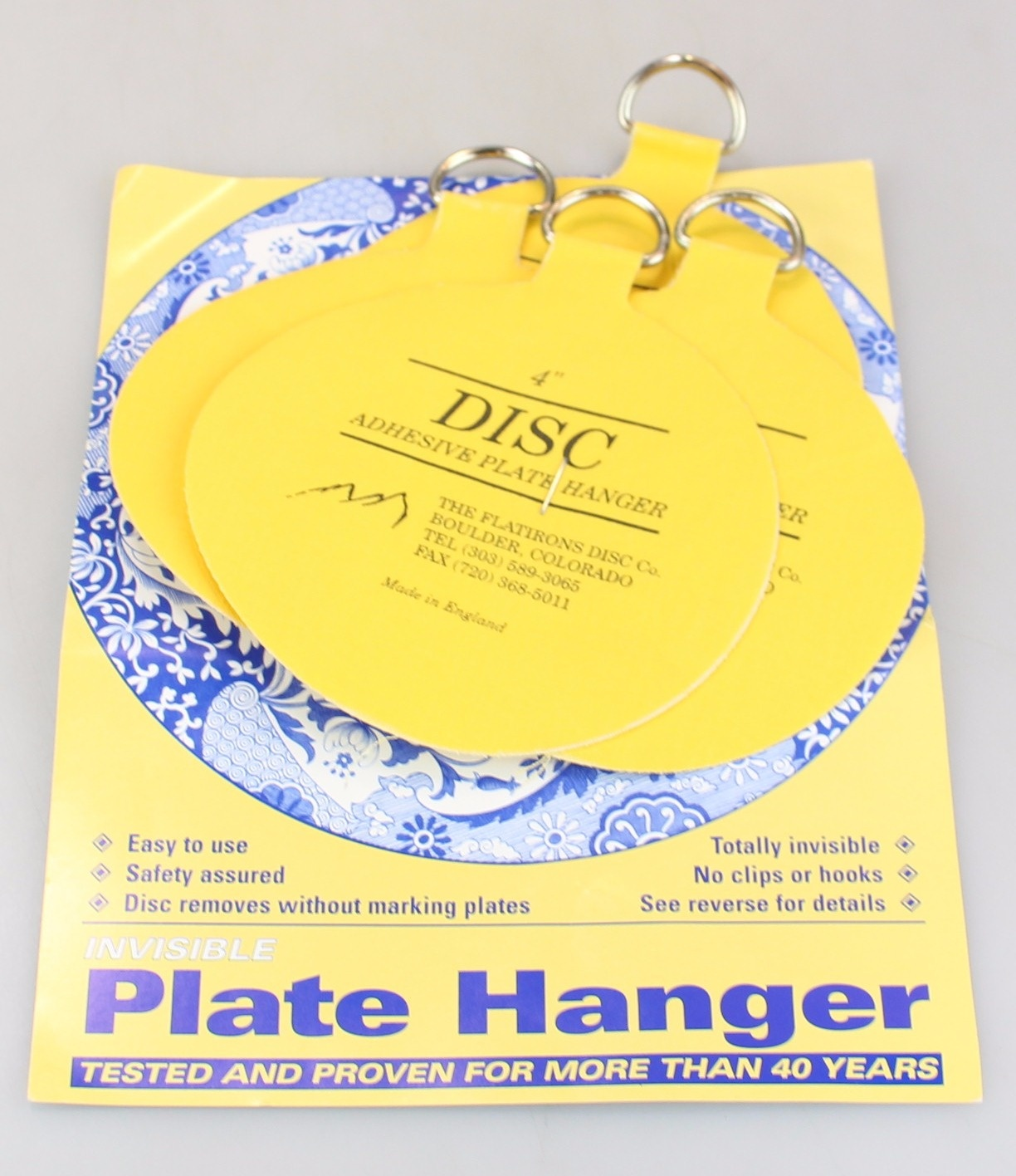 sc 1 st  Fishpond NZ & The Flatirons Disc Co. Invisible English Disc Adhesive Large Plate Hanger Set