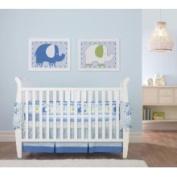 Triboro Elephants Crib Skirt