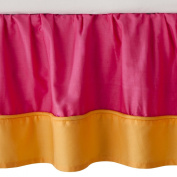JoJo Designs Toddler Bedskirt - Pink/Orange Butterfly Pink/Orange