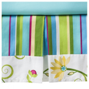 Layla Toddler Bed Skirt Cotton Floral and Stripe by JoJo Designs