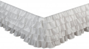 Greenland Home Fashions White 38.1cm Drop Multi-ruffle Bedskirt