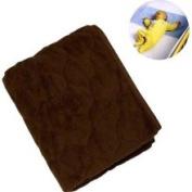 NoJo Coral Fleece Sheet Saver - Brown